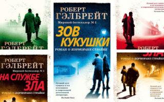 Серии книг Роберта Гэлбрейта