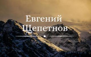 Книги Щепетнова по порядку: список