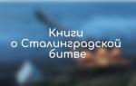 Художественные книги о Сталинградской битве: список